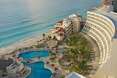 Grand Park Royal Cancun Caribe - All Inclusive (Boulevard Kukulcan Km 10.5 Zona Hotelera) This Cancún hotel is located on a private 75-yard stretch of beach on the Caribbean Sea. It features 2 outdoor pools and 4 restaurants and lounges. #bestworldhotels #travel #mx #cancun