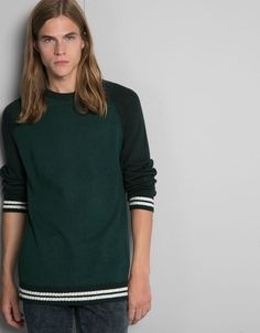Jersey cuello redondo manga ranglan - -30% en artículos seleccionados - Bershka España