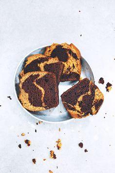 Cake marbré (super-moelleux) choco-bergamote