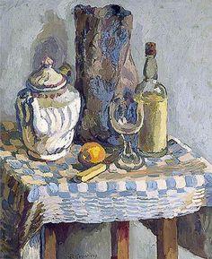 ✽   duncan grant  -  'still life with a tea pot' -   1929  -  oil on canvas