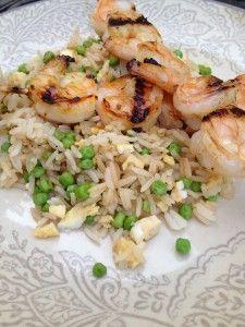 Garlicky Orange Shrimp & Rice