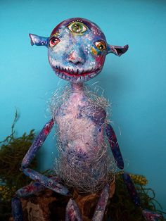"OOAK Art doll ""The third eye"" by AKVARELA on Etsy"