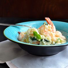 Shrimp and Feta Risotto...unbelievably creamy...this is a no fail risotto recipe you'll be passing on to everyone!