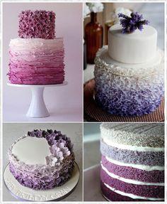 Decoradas en degrade de colores Pretty Cakes, Cute Cakes, Beautiful Cakes, Amazing Cakes, Cupcakes Decorados, Ombre Cake, Fancy Cakes, Love Cake, Celebration Cakes