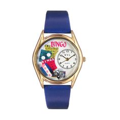 Bingo Royal Blue Leather And Goldtone Watch