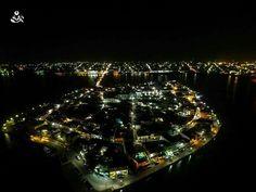 Isla de Flores en Petén de noche! Impresionante!!!