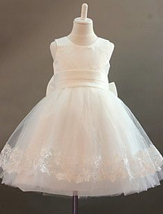 A-line Jewel Tulle And Satin Flower Girl Dress With Lace – USD   49.99 1f26dbc0b4d7