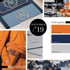 Pantone Colors: Russet Orange, Sargasso Sea, Quiet Gray. -- Follow Paper Couture Studio on Instagram and Facebook! @papercouturestudio --