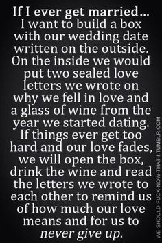 Why we fell in love...