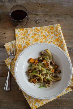 Orzo con zucca e finocchi al forno_ricetta - Barley with roasted pumpkin and fennel_ recipe