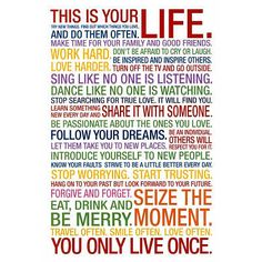 This Is Your Life Motivational Quote Poster
