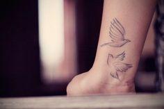 nice Women Tattoo - Cute Two Soaring Birds Tattoo On Wrist ~ Girly Tattoo Ideas #21