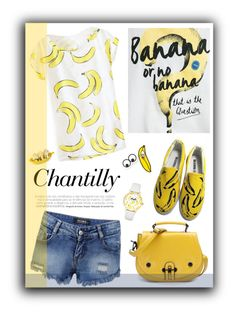 """Banana"" by chengyijia ❤ liked on Polyvore featuring Bershka, HVBAO, Kate Spade and BIA Cordon Bleu"