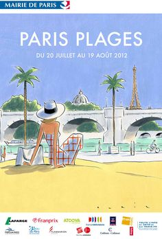 Affiche Paris plages 2012 par Francois Avril