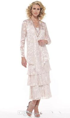 Stunning Chiffon Lace Tea Length Mother Of The Bride Wedding Party Dresses With Long Sleeve Jacket Time Bridal Unique Mother Of The Bride Dresses Blue Mother Of The Bride Dresses From Zhouheyuan_1981, $144.05| Dhgate.Com