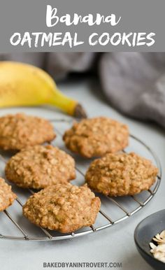These Banana Oatmeal Cookies are absolute perfection. This recipe yields a perfectly soft, cake-like banana cookie loaded with oats. Banana oatmeal cookies are the perfect treat for breakfast or dessert. Healthy Chocolate Cookies, Banana Oat Cookies, Oatmeal Cookie Recipes, Banana Oats, Healthy Banana Cookies, Healthy Cookies For Kids, Banana Roll, Healthy Cookie Recipes, Peanut Butter Granola