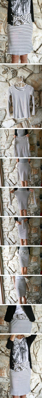 Falda improvisada con una camiseta