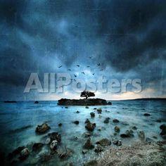 Misty Blue by Danny Burk Landscapes Giclee Print - 41 x 41 cm