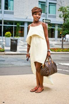 """We love this collection of chic DC ladies in Refinery 29's """"The Chicest Summer Frocks"""" — D.C. Style  #Refinery29"""