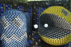 """Sonson: """"Canstruction 2008: Pacman."""" Can art competition held at the Vancouver Food Bank."""