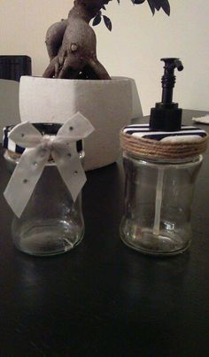 Recycling jars for bathroom
