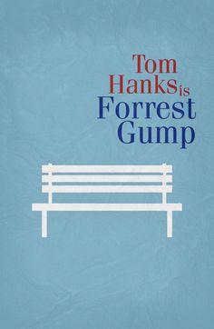 Forrest Gump (1994) ~ Minimal Movie Poster by Begum Ozdemir #amusementphile