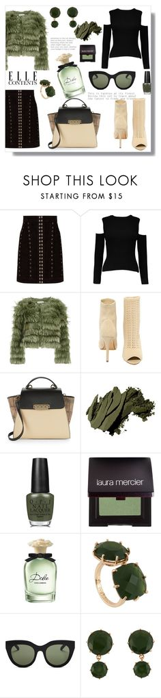 """Fashion Idea"" by aremle-racemoza ❤ liked on Polyvore featuring Balmain, Alice + Olivia, Steve Madden, ZAC Zac Posen, Bobbi Brown Cosmetics, OPI, Laura Mercier, Dolce&Gabbana, Les Néréides and Le Specs"