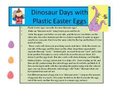 Using Plastic Easter Eggs in Kindergarten and Pre-k