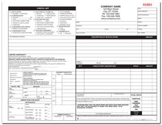 8 Best Hvac Forms Images Invoice Template Service Order Order