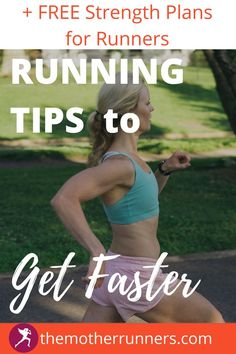 Learn 9 running tips to make you faster without adding time to your workouts. These are simple running hacks that keep you healthy & make you run faster! AND get a FULL FREE MONTH of STRENGTH WORKOUTS for RUNNERS. #running #runner #motherrunner #runningtips #5k #10k #halfmarathon #marathon Strength Workout, Strength Training, How To Run Faster, How To Run Longer, Proper Running Form, Single Leg Bridge, Running Injuries, Heavy Weight Lifting, Learn To Run