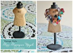 Mini Mannequin Craft for Young Girl's Room - I love to upcycle all sorts of things and my mind is always churning away, trying to come up with new ideas. One da