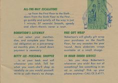 A circa pamphlet featuring the new layout of Robertson's Department Store in South Bend, Indiana South Bend, All The Way, No Way, Back Home, Indiana, The Selection, Gift Wrapping, Free, Gift Wrapping Paper