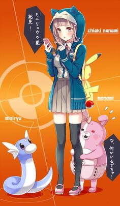Chiaki playing Pokemon Go! XD