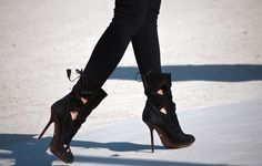 Cutout ankle boots.