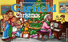 Here you'll find information on the holiday classic cartoon A Garfield Thanksgiving Special, Garfield Thanksgiving pictures, the Garfield balloon in the Macy's Thanksgiving Day Parade, Garfield and Odie. Christmas Shows, Christmas Movies, Christmas Time, Holiday Movies, Christmas Specials, Xmas, Garfield Christmas, 80s Kids, Classic Cartoons