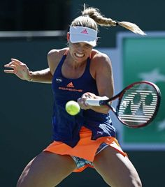 Angelique Kerber sporting adidas at Indian Wells.