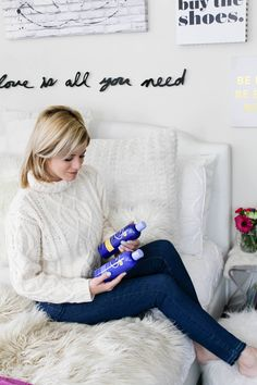 Blue is for Blondes // Talking about the most most amazing products for blonde hair on the blog today. Check out today's post to read more about +Hask HairCare Blue Chamomile and Argan Oil Better Blonde shampoo, conditioner and deep conditioner 💁🏼 http://www.theknottedchain.com/blue-is-for-blondes/