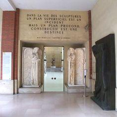 Entrée du Grand hall. Musée Bourdelle, Paris 15e. M° Montparnasse-Bienvenüe.Visité le 28 février 2014.