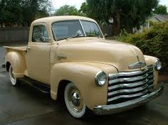 1950's beige truck. Would love to pull my trailer with this!