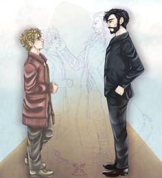 Hobbit: AU - Have we met before? by ~EvaAngel on deviantART - the light little sketch is what killed my feels!