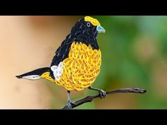 ☑️ Quilling birds ❤ How to make Beautiful Yellow quilled Bird  ❤ - YouTube