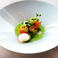 assorted vegetables. Herbs ibfused olive oil