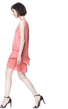DRESS WITH SIDE PLEAT from Zara