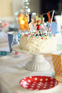 Colorful Birthday Party, Birthday Parties, Birthday Cake, Pippi Longstocking, Buy Cake, Cute Snacks, Happy Party, Weird Food, Cake Servings