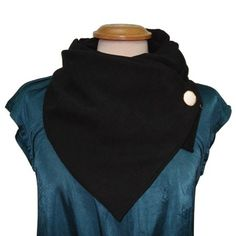 Stay warm or just simply get trendy with this black cotton scarf from Adi Bakshi's fashion scarves collection. This fashion scarf gets secured with a detailed button, ensuring that you'll always get that perfect slouchy look for every wear. Choose the wide scarf to get a fuller look or opt for the medium scarf for a lighter accessory.