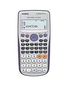 Casio FX-570ES Plus - Calculadora científica (417 funciones, 15 + 10 + 2 dígitos, pantalla Natural), color gris