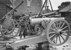 A French heavy artillery repair shop at Thiacourt, 14 June 1916