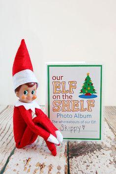 DIY Elf on the Shelf Photo Album. Costs about 2 bucks to make. Too fun!