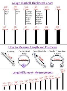 Resultado de imagem para piercing gauge