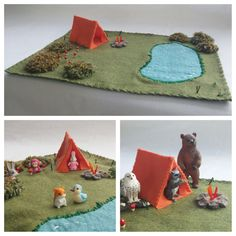 Wool Felt Camping Playscape Play Mat Child Tent by MyBigWorld2015